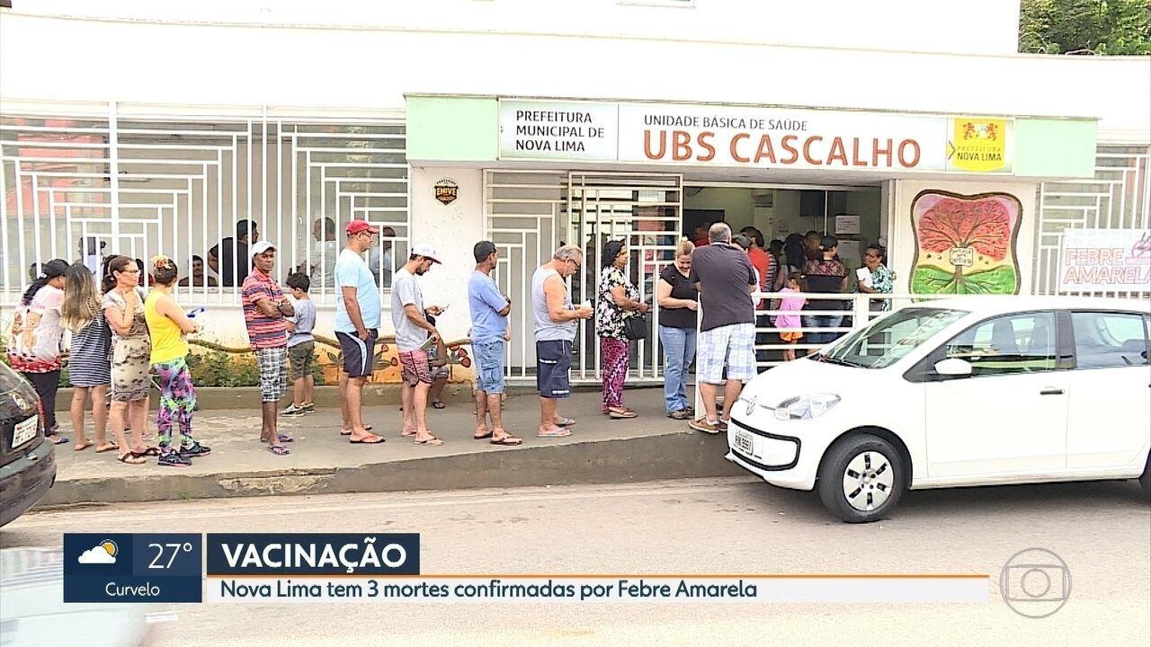 Moradores de Nova Lima aproveitam fim de semana para se vacinar contra febre amarela