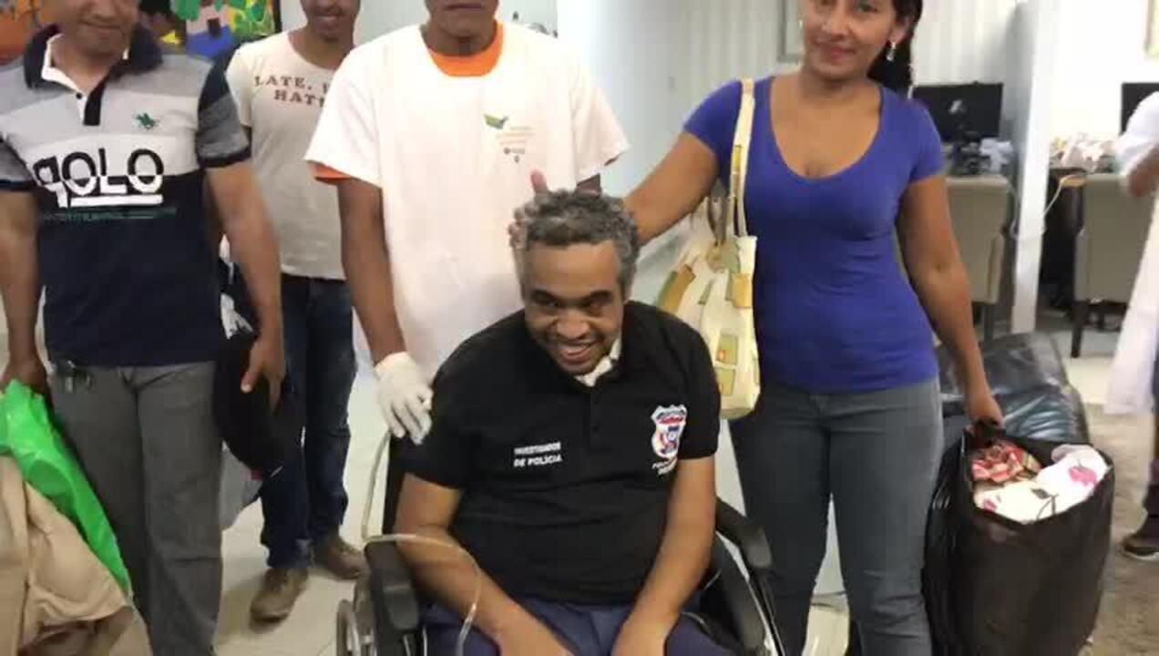 Policial teve alta médica após quase 2 meses internado em Cuiabá
