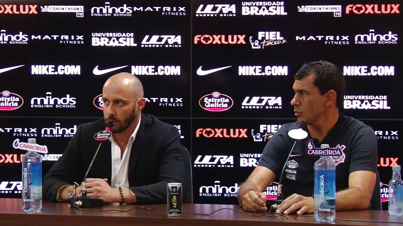 Alessandro esclarece situações de Sheik, Henrique Dourado e Gilberto no Corinthians