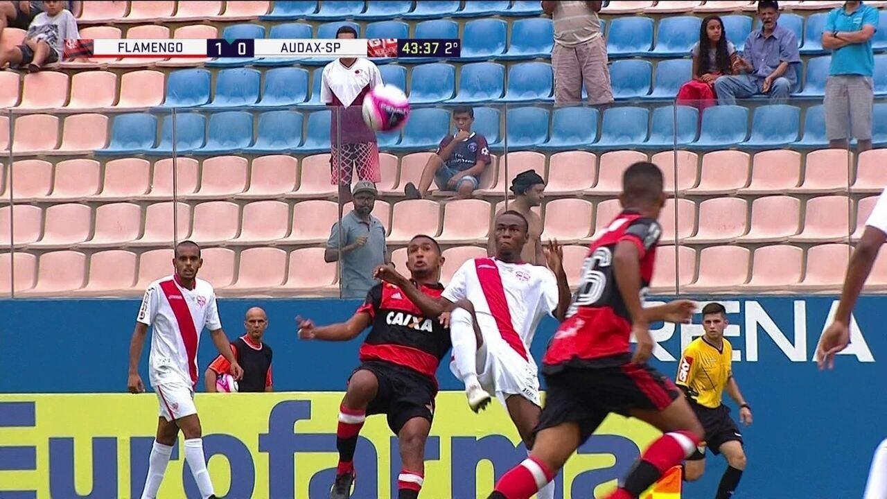 Melhores momentos de Flamengo 1 x 0 Audax-SP pelas oitavas da Copa SP 2018
