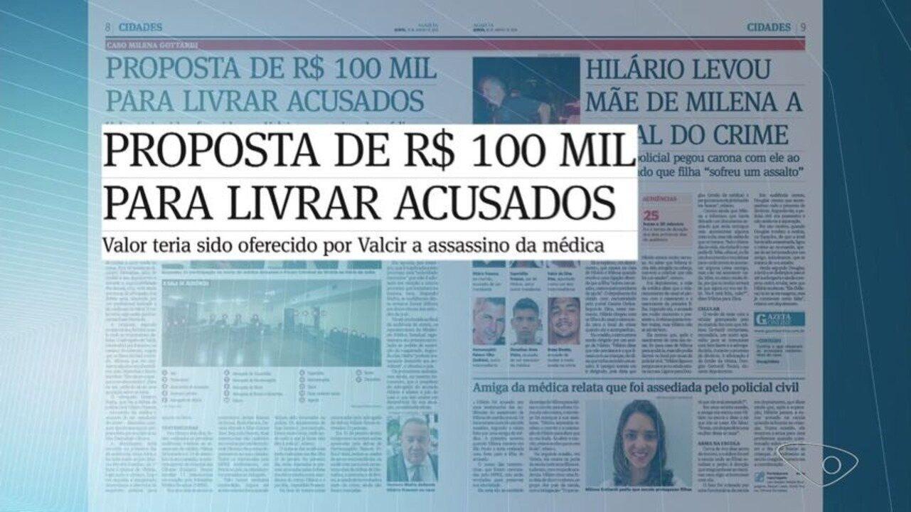 Jornal A Gazeta tem acesso a depoimentos das testemunhas do caso Milena Gottardi