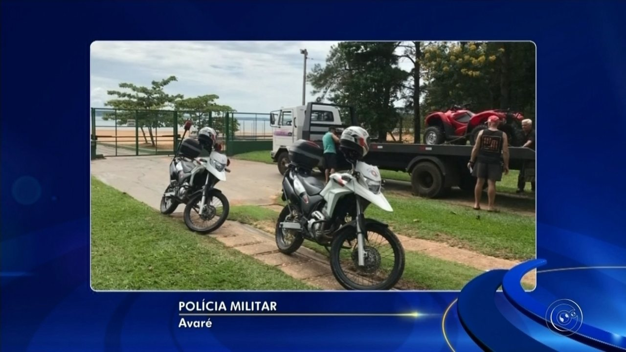 Quadriciclo em situação irregular é apreendido em prainha de Itaí