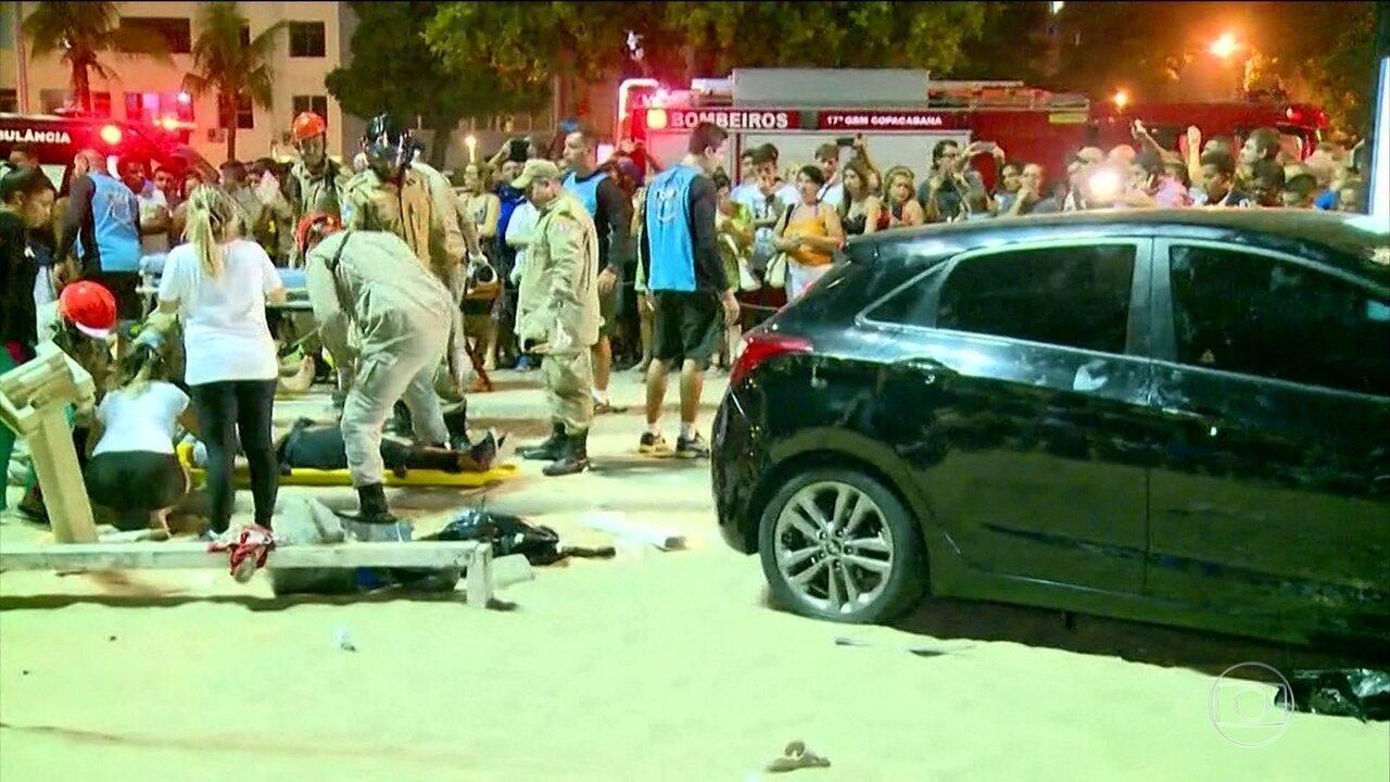 Atropelamento em Copacabana mata bebê de oito meses e deixa feridos