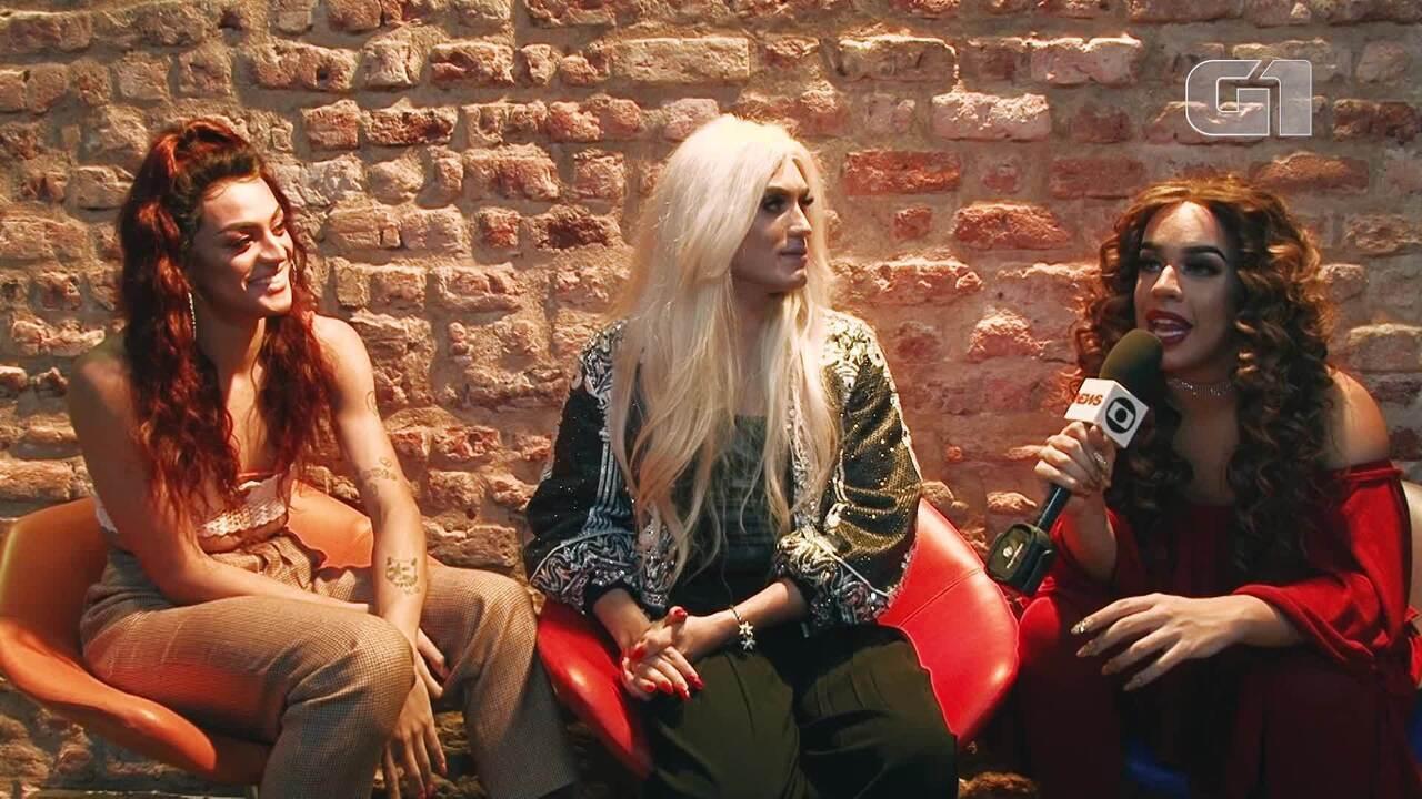 Aretuza Lovi, Pabllo Vittar e Gloria Groove falam sobre clipe 'Joga Bunda'