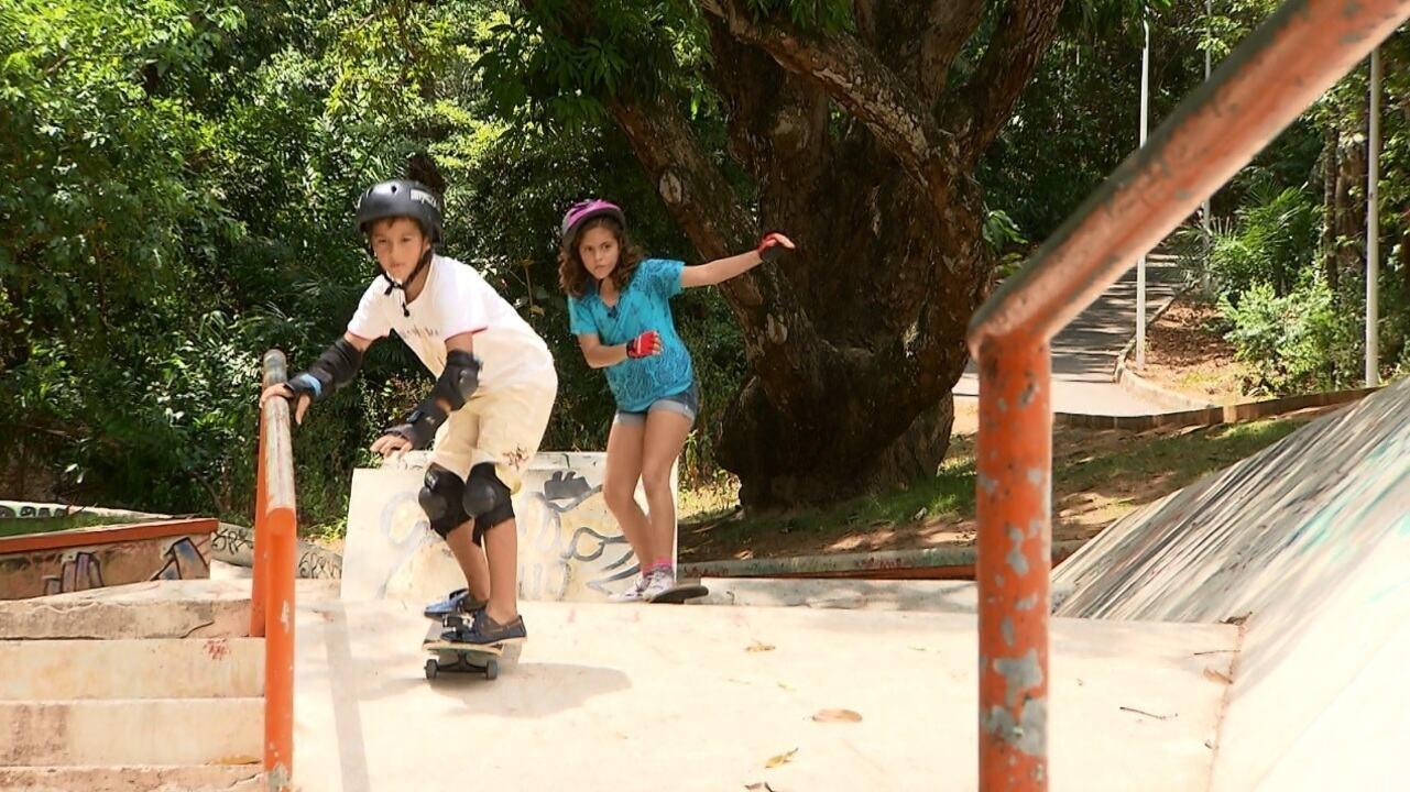 'Oba! Tô de Férias': irmãos Gabriel e Joana Vieira mostram o que fazer no Parque da Cidade