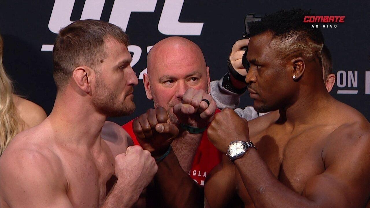 UFC 220: Confira a pesagem de Francos Nganou x Stipe Miocic