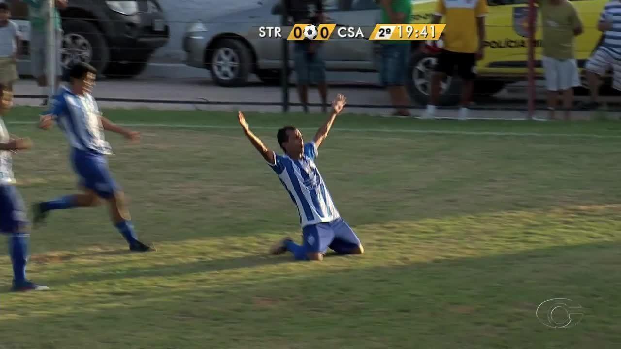 Didira faz o primeiro gol do Azulão contra o Santa Rita, aos 19 minutos do 2º tempo