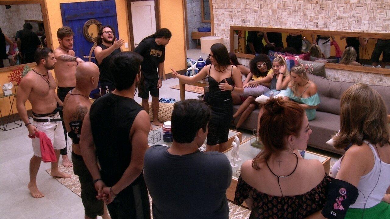 Brothers e família Lima se reúnem na sala