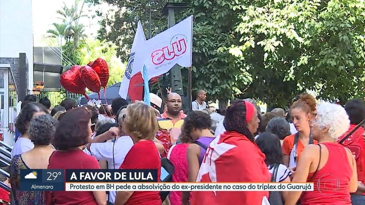 Grupo faz vigília em BH para acompanhar julgamento de recurso de Lula contra condenação