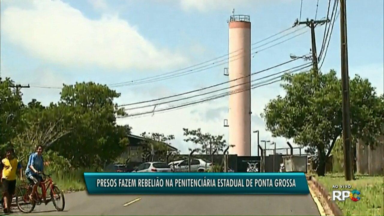 Presos fazem rebelião na Penitenciária Estadual de Ponta Grossa