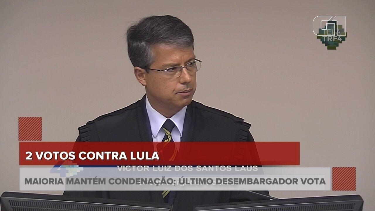 Victor Laus também adere ao voto do relator e mantém condenação de Lula