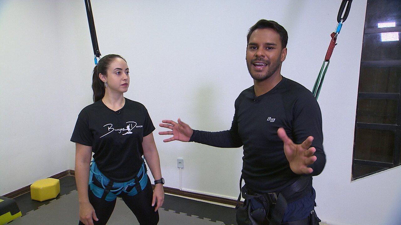 No 'Desafiando', Pablo Vasconcelos encara o bungee dance e arrisca uns passinhos