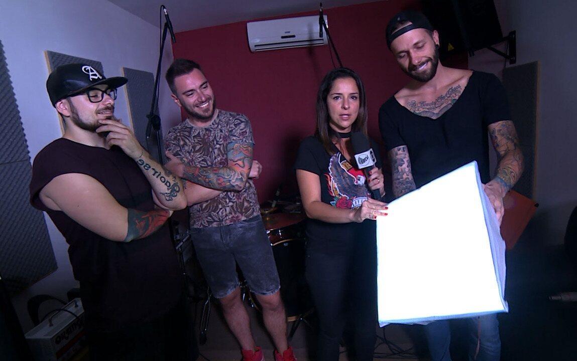 'Em Cena': confira bastidores da gravação com a banda Breaking Conspiracy