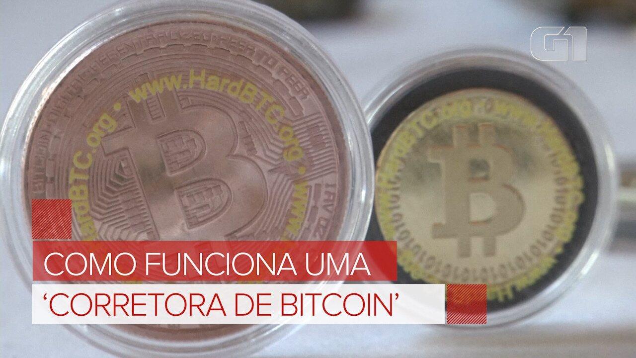 Como funciona uma 'Corretora de bitcoin