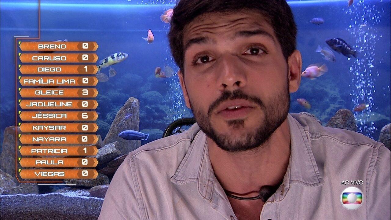 Primeiro Paredão: Lucas vota em Gleici