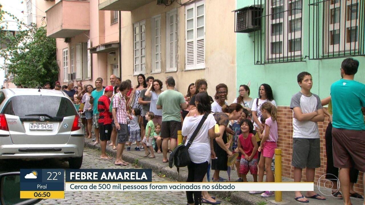 500 mil foram vacinados no RJ contra a febre amarela no Dia D
