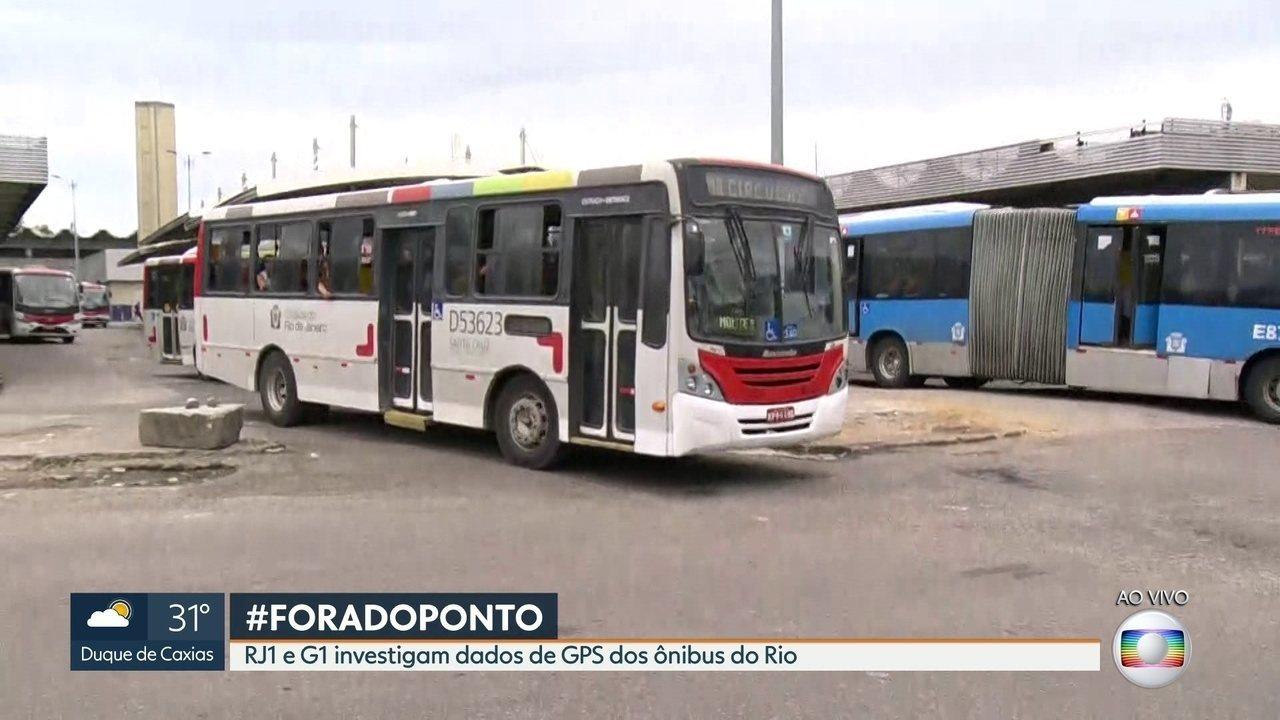 Mais da metade dos ônibus do Rio tem falha no monitoramento por GPS