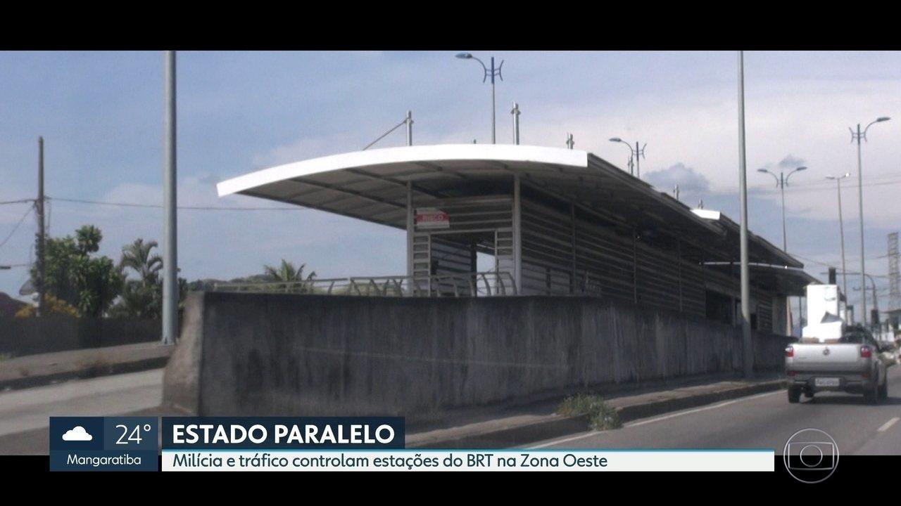 Estações do BRT são controladas pela milícia na Zona Oeste do Rio