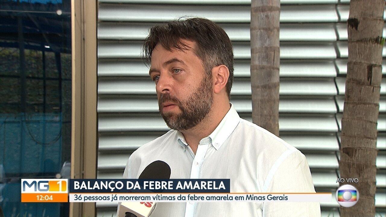 Sobe para 36 número de mortes por febre amarela em Minas Gerais