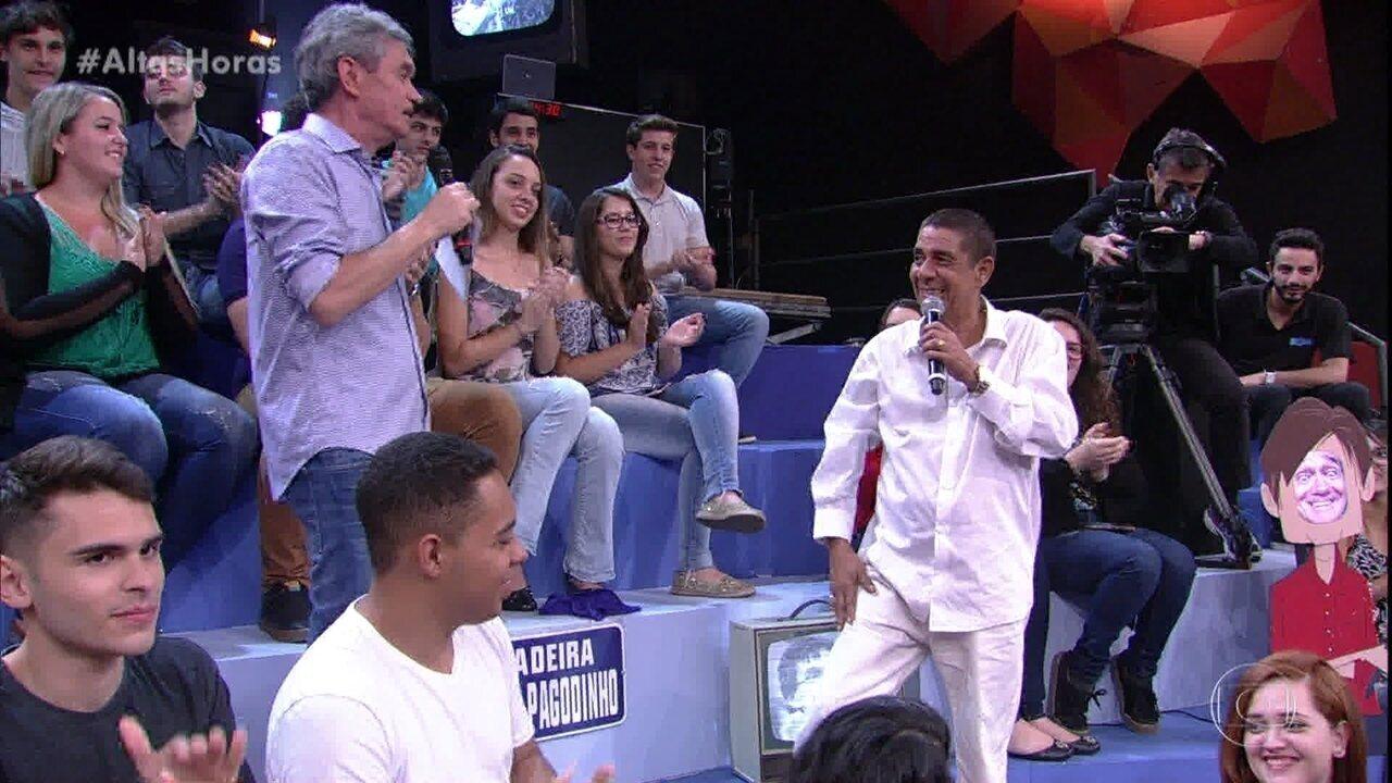 Serginho Groisman inaugura a Ladeira Zeca Pagodinho