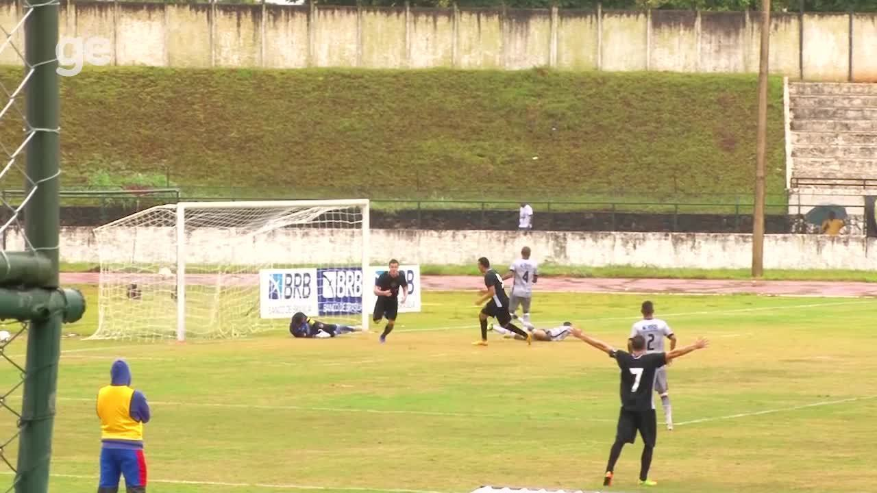 Os gols de Paranoá 1 x 2 Sobradinho pelo Campeonato Brasiliense 2018