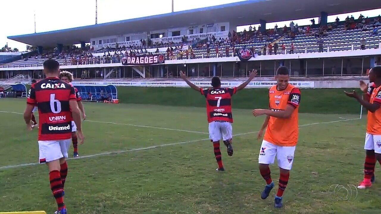 Os gols de Grêmio Anápolis 1x1 Atlético-GO pelo Goianão