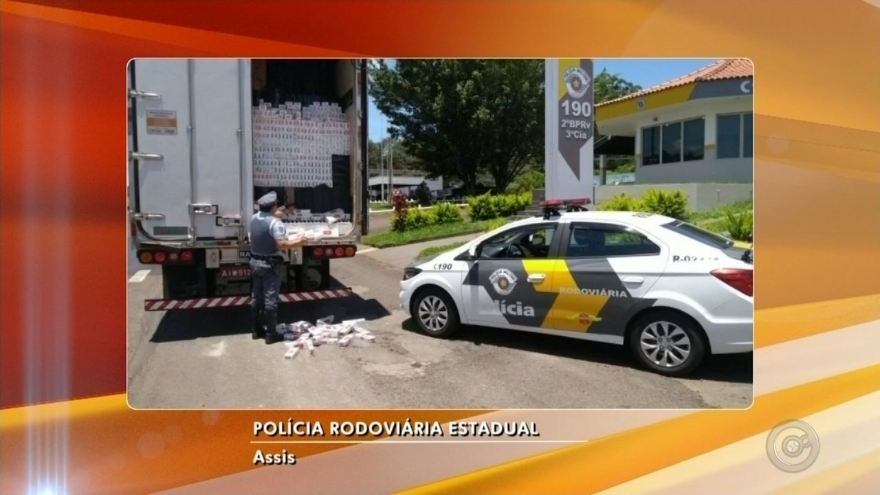 Caminhão é apreendido com 550 mil maços de cigarro contrabandeados em Assis