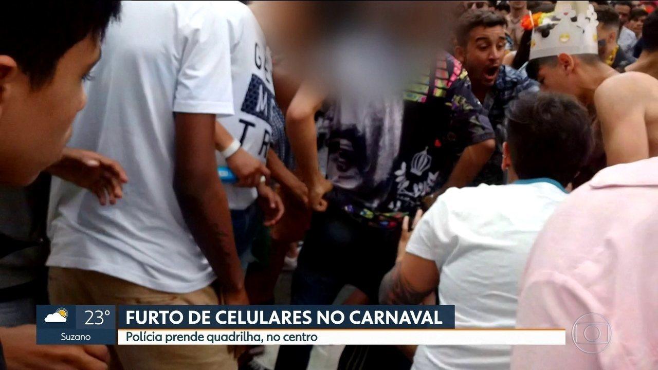 Polícia prende quadrilha que aproveitava carnaval para furtar celulares