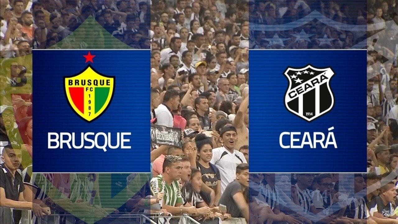 Chamada para a transmissão de Brusque x Ceará pela Copa do Brasil nesta quarta (7)