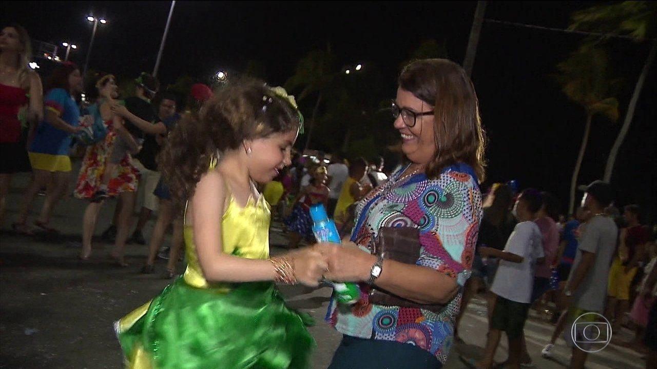 Encontro de gerações no carnaval de João Pessoa