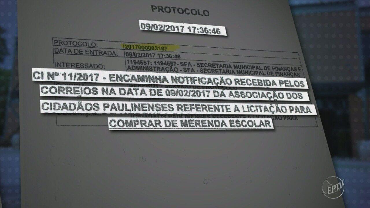 MP investiga dois contratos emergenciais de 2017 da Prefeitura de Paulínia
