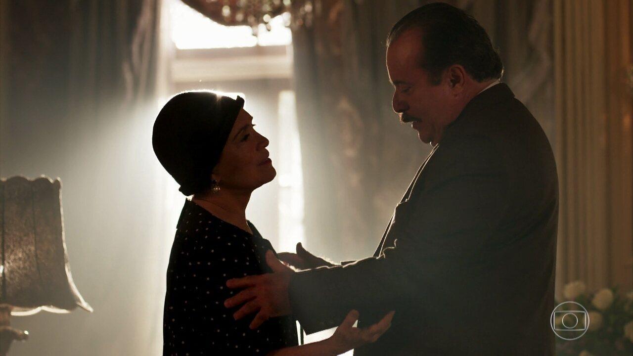 Jose Augusto se despede de Lucerne e avisa que ela será bem-vinda na Quinta