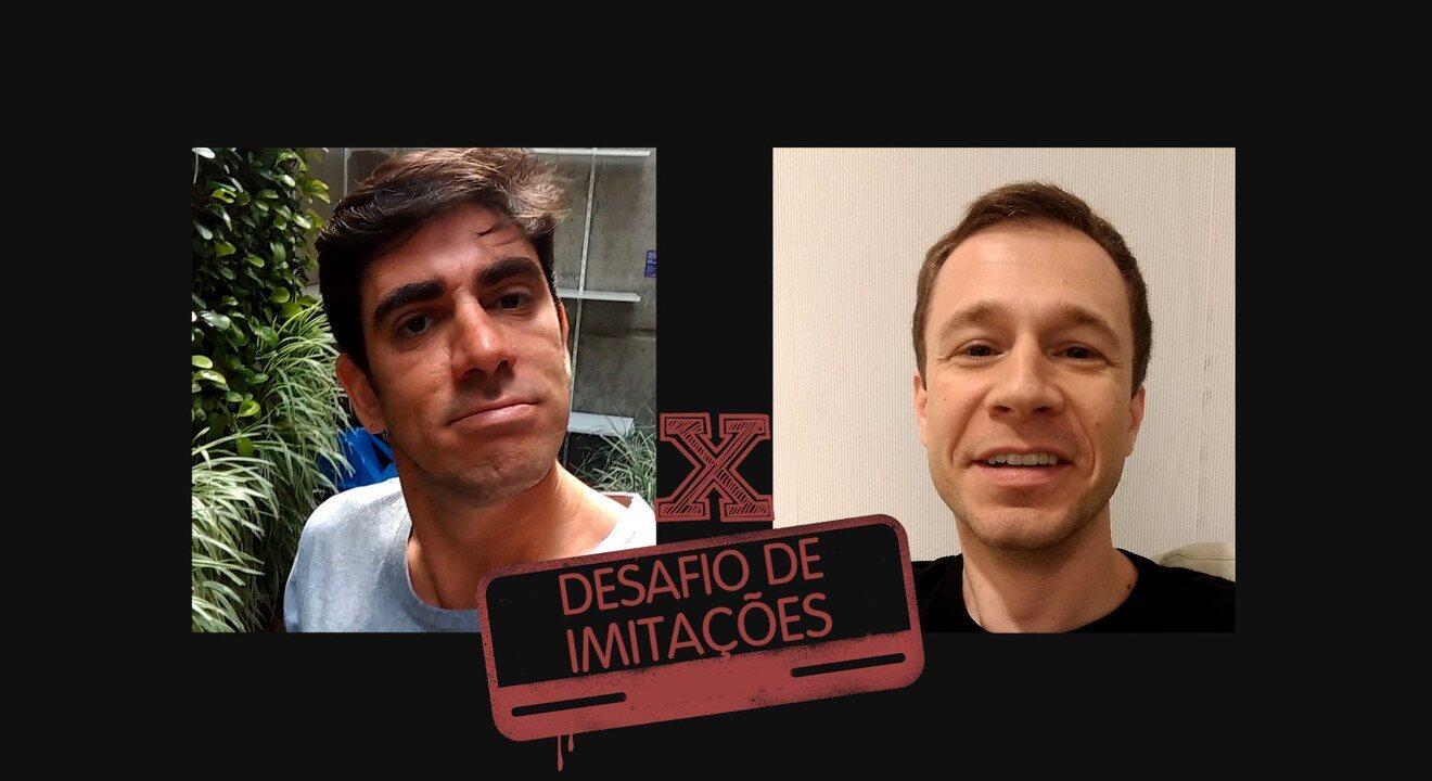 Adnet e Tiago Leifert fazem desafio de imitações