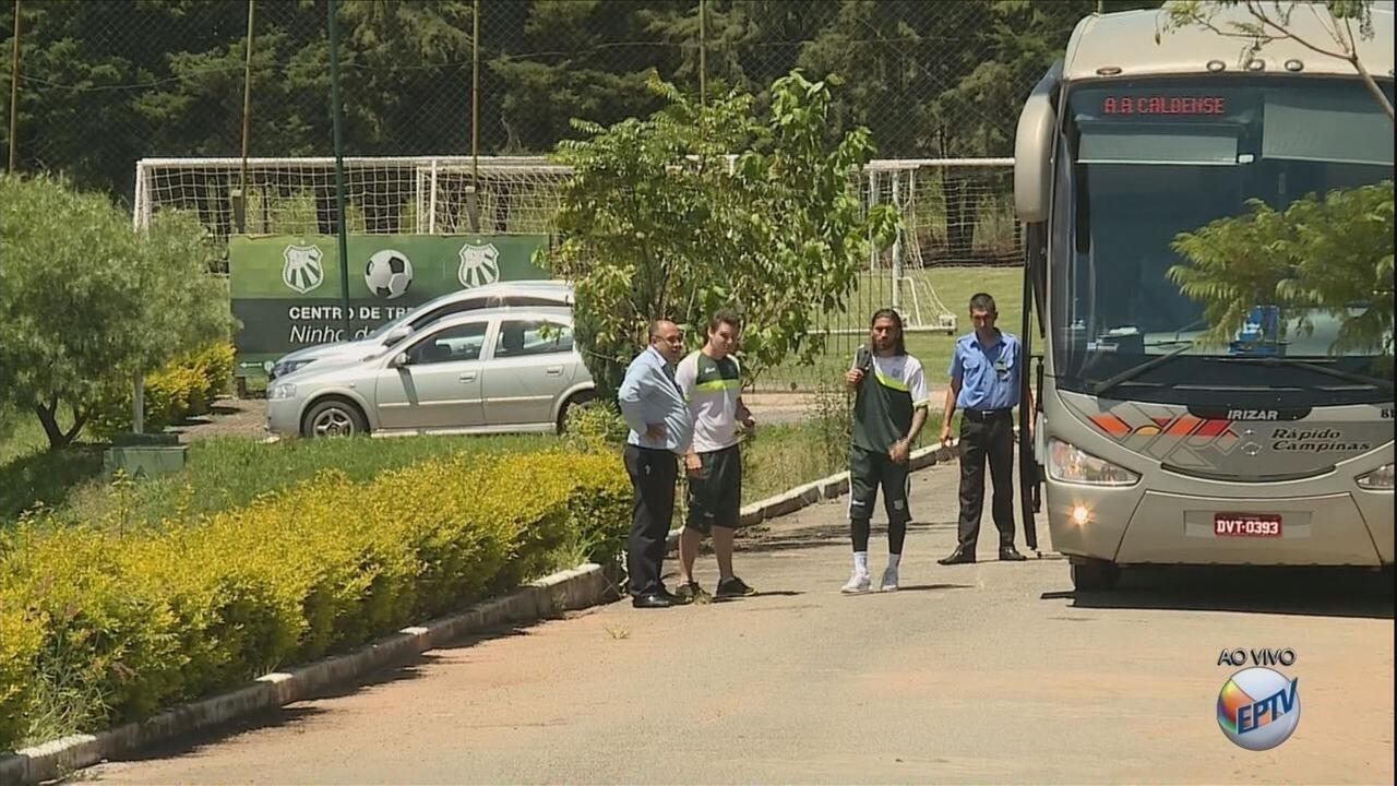 Caldense embarca para o cofronto com o Atlético-MG em Belo Horizonte
