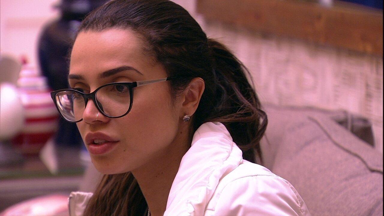 Paula revela sua torcida: 'Vou torcer para a Jéssica'
