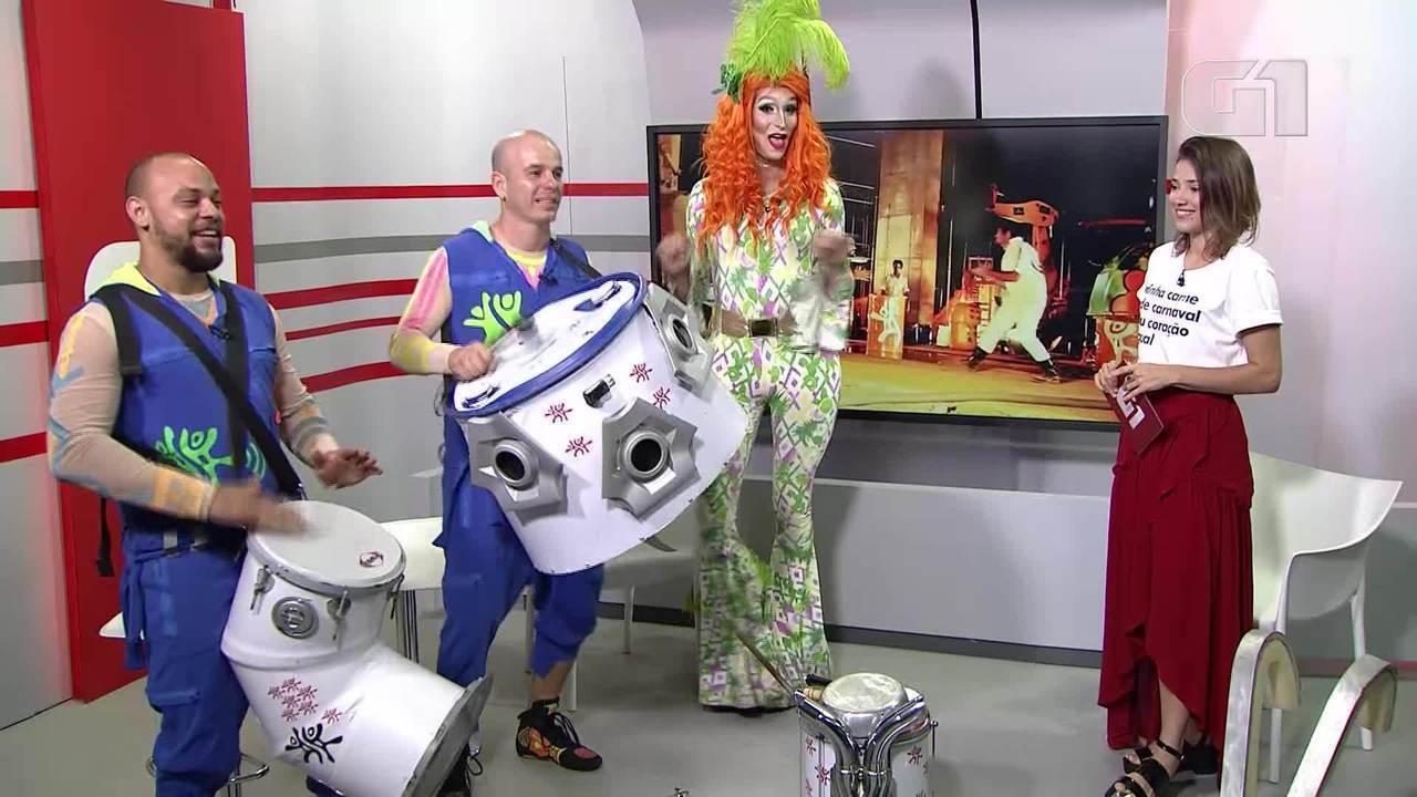 G1 entrevista representantes do bloco de carnaval Montadas e do Patubatê