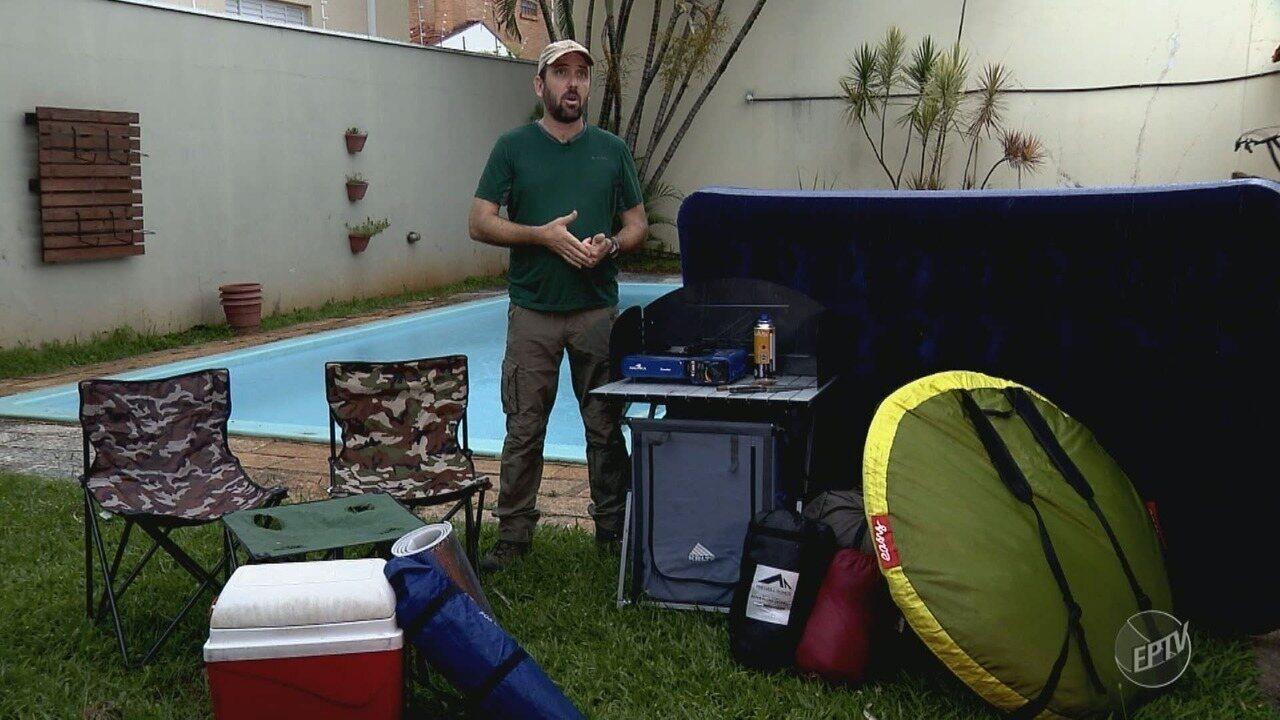 'Partiu Camping': veja o que levar para um camping e conheça opções em São Pedro