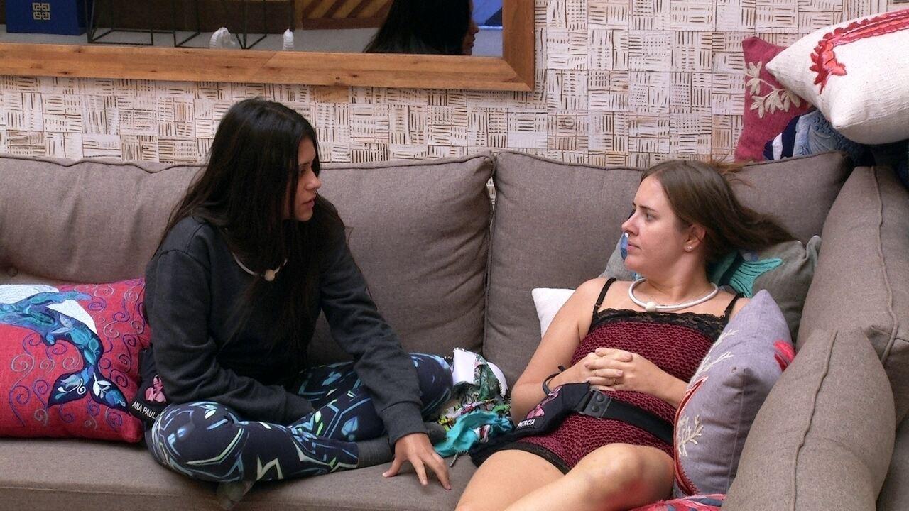 Ana Paula combina voto com Patrícia: 'Vamos nós duas na Jéssica'