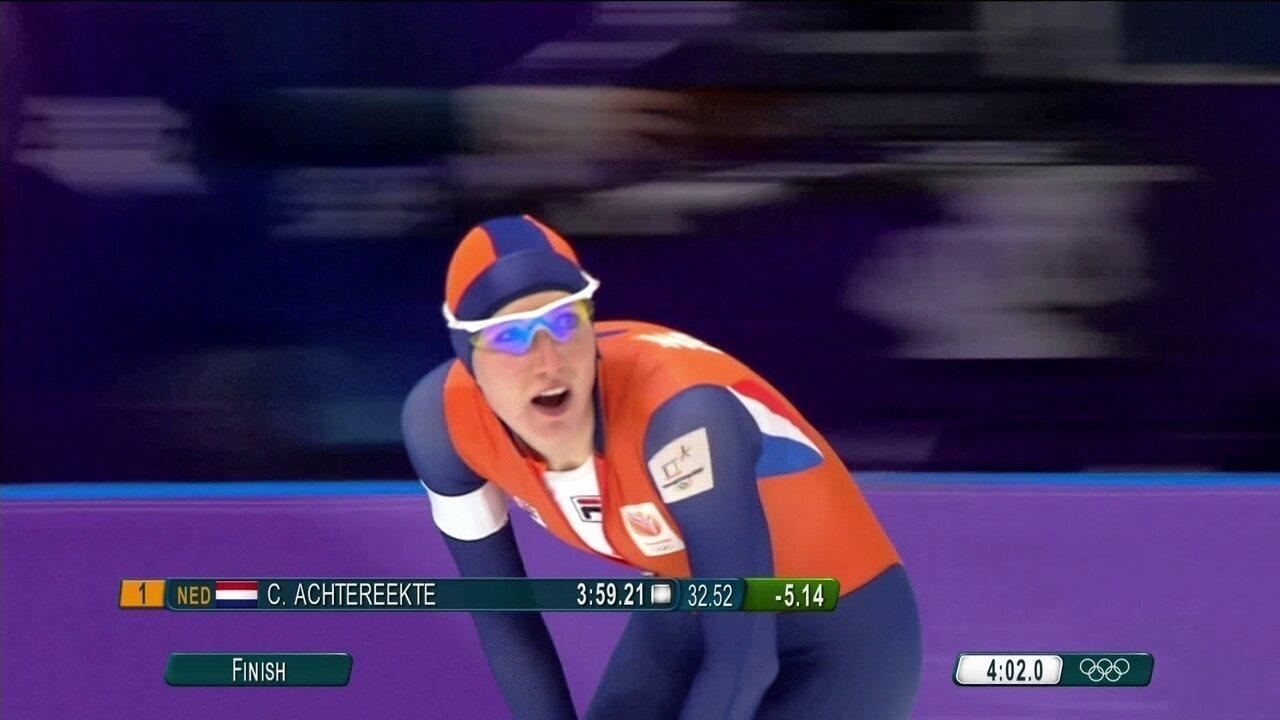 Holanda conquista as três medalhas nos 3000m da patinação de velocidade feminina