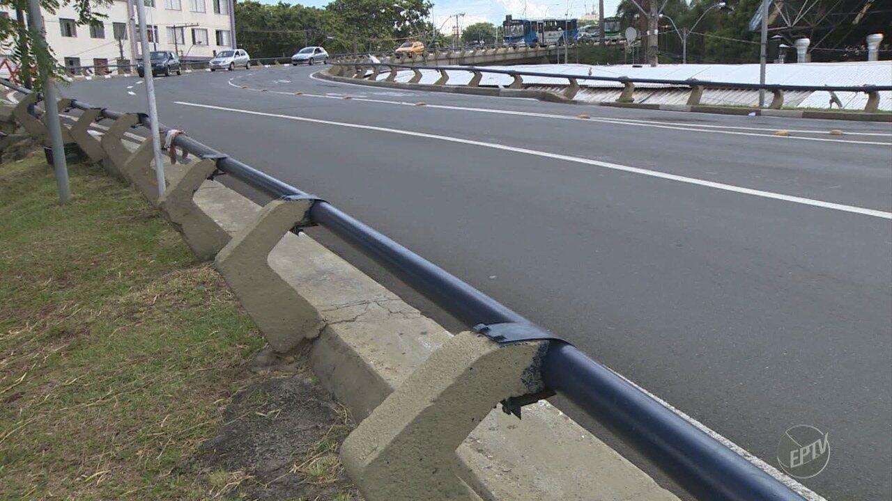 Especialista aponta falhas em viaduto onde carro caiu em Campinas