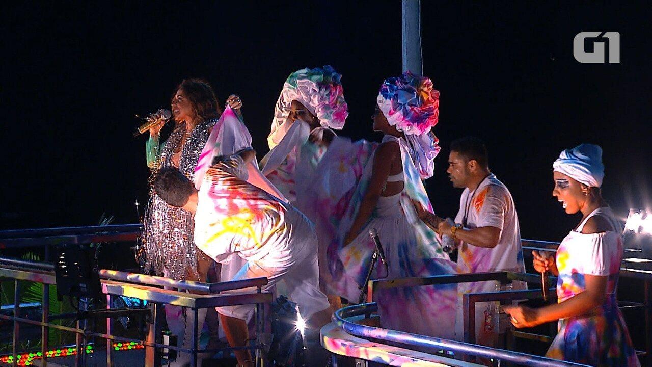 Daniela Mercury canta 'Canto da Cidade' no circuito Barra-Ondina