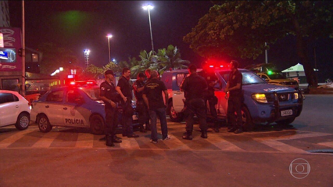 Segurança na zona sul do Rio é reforçada durante à noite