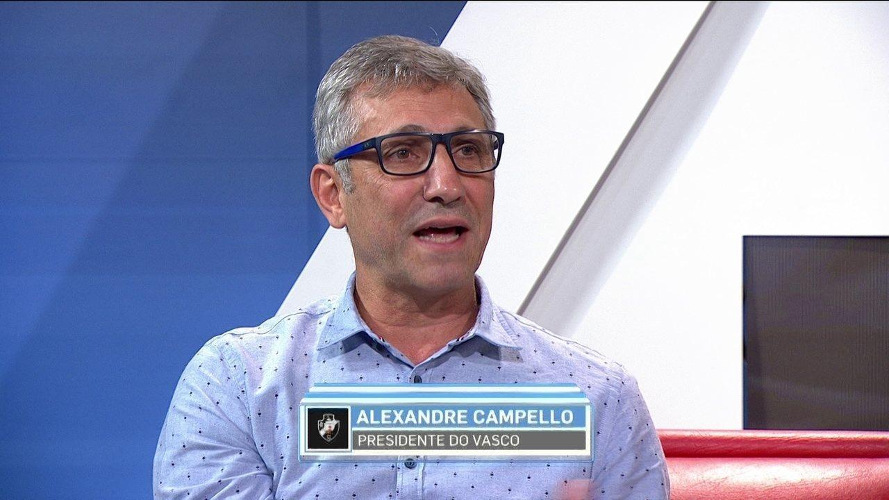 Alexandre Campello sobre aumento das dívidas do Vasco: