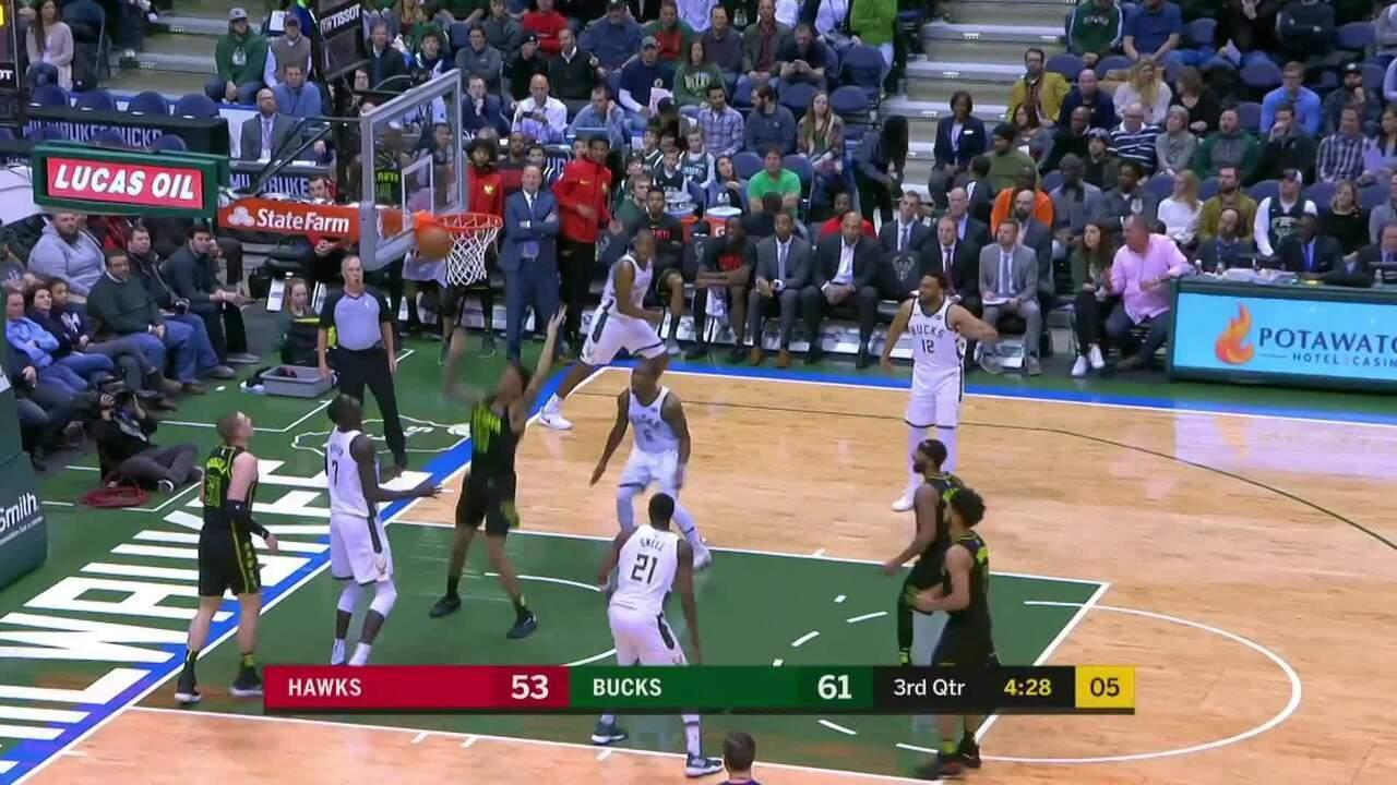 Melhores momentos: Atlanta Hawks 92 x 97 Milwaukee Bucks pela NBA