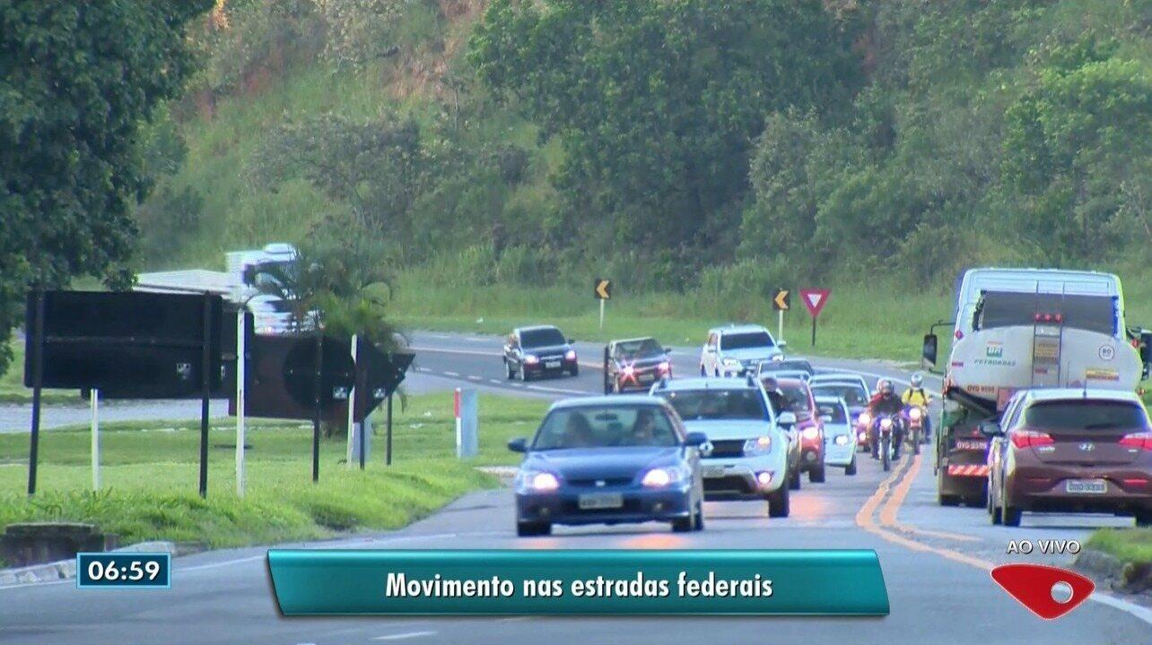 Veja como ficou o trânsito na manhã desta quarta-feira (14) nas principais rodovias do ES
