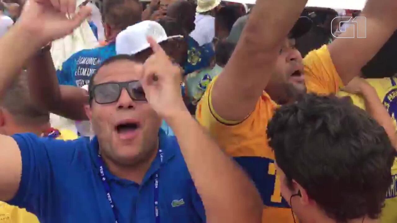 Paraíso do Tuiuti comemora vice-campeonato no carnaval 2018