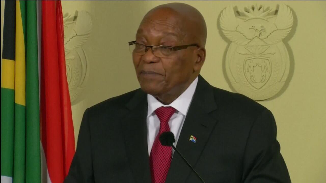 Presidente da África do Sul, Jacob Zuma renuncia ao cargo