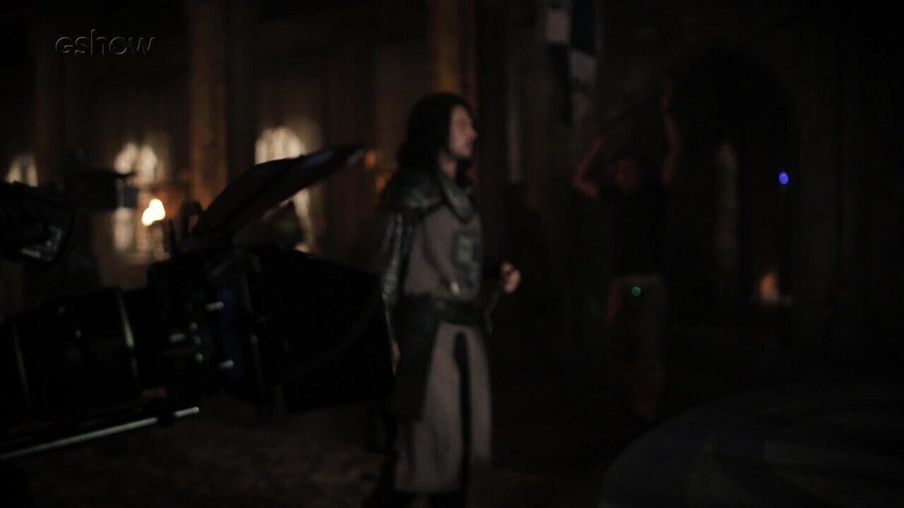 Veja os bastidores da invasão do castelo de Artena, em 'Deus Salve o Rei'