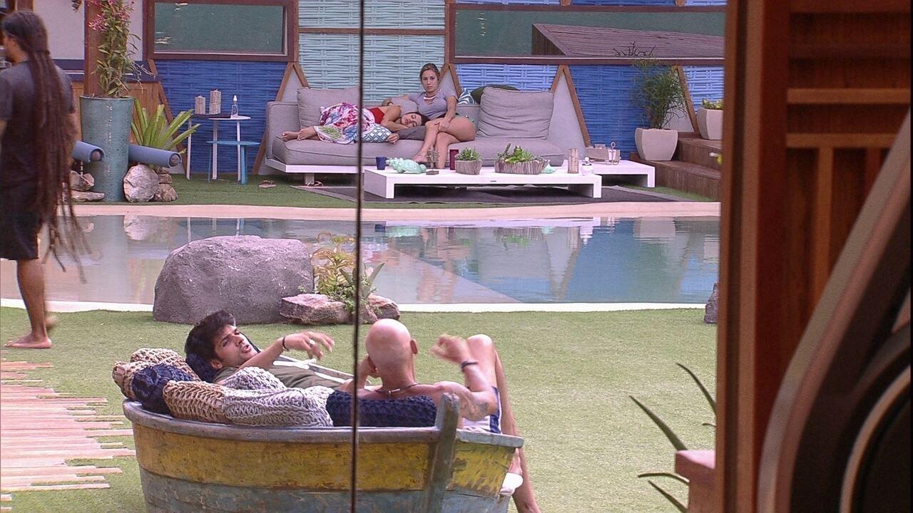 Jéssica e Paula elogiam Ayrton e avaliam mudança de comportamento do brother