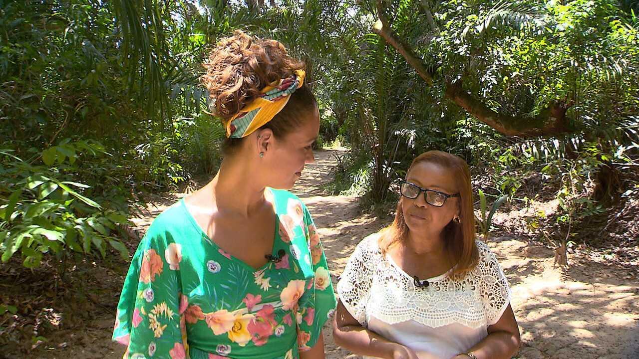 Renata Menezes visita a Reserva Venceslau, em Itaparica